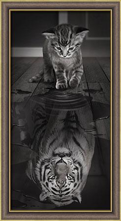 Malen nach Zahlen Bild Der Tiger in mir - AZ-1771 von Sonstiger Hersteller