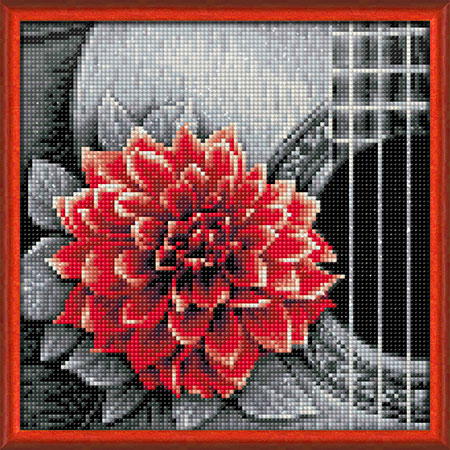 Malen nach Zahlen Bild Blume und Gitarre - AZ-1772 von Sonstiger Hersteller