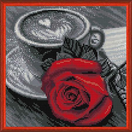 Malen nach Zahlen Bild Eine Rose zum Frühstück - AZ-1773 von Sonstiger Hersteller
