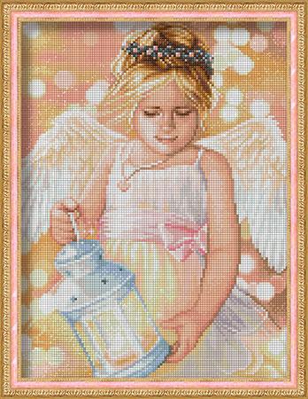 Malen nach Zahlen Bild Engel mit Laterne - AZ-1780 von Sonstiger Hersteller