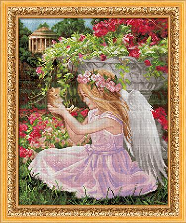 Malen nach Zahlen Bild Engel im Garten - AZ-1781 von Sonstiger Hersteller