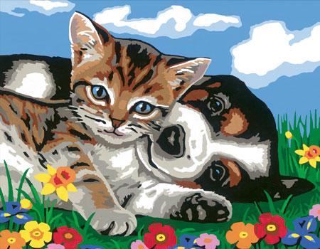 Malen nach Zahlen Bild Tierfreundschaft - 28457 von Ravensburger