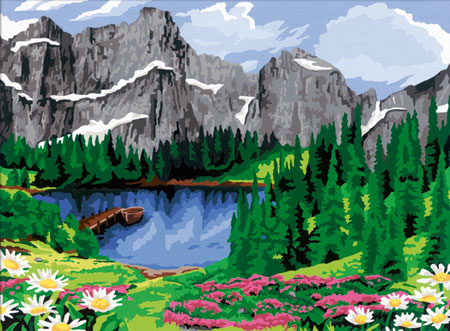 Malen nach Zahlen Bild Sommerliche Bergidylle - 28898 von Ravensburger