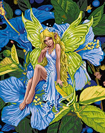 Malen nach Zahlen Bild Anmutige Blumenelfe - 609130647 von Schipper