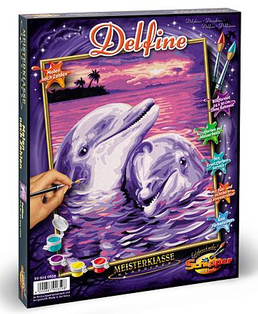 Malen nach Zahlen Bild Delfine - 609240659 von Schipper