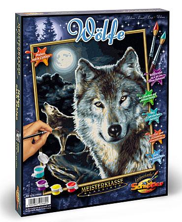 Malen nach Zahlen Bild Wölfe - 609240660 von Schipper