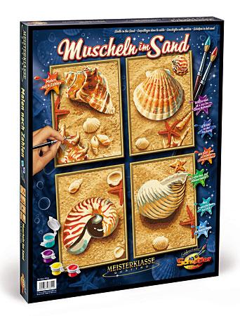 Malen nach Zahlen Bild Muscheln im Sand 4in1 - 609340654 von Schipper