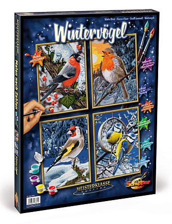 Malen nach Zahlen Bild Wintervögel 4in1 - 609340661 von Schipper
