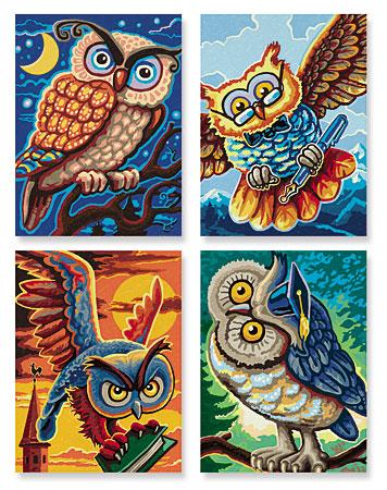 Malen nach Zahlen Bild Vogel der Weisheit - 609340701 von Schipper