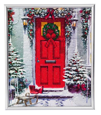 Geschmückte Tür