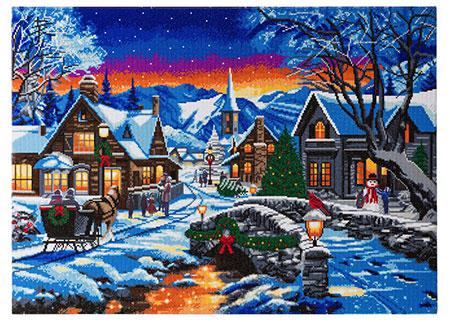 Weihnachtlich geschmückte Stadt