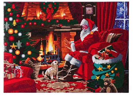 Malen nach Zahlen Bild Der Weihnachtsmann am Kamin - CAK-A83 von Sonstiger Hersteller