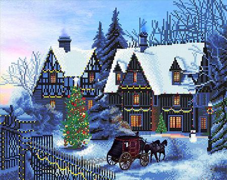Malen nach Zahlen Bild Weihnachten zuhause - CAK-XLED12 von Sonstiger Hersteller