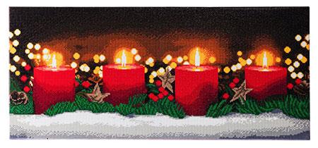 Malen nach Zahlen Bild Festliche Kerzen - CAK-A84 von Craft Buddy
