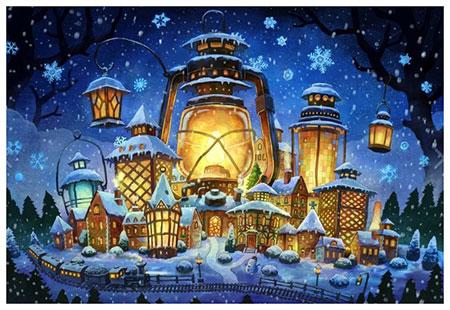 Malen nach Zahlen Bild Weihnachtslichter - WD2387 von Sonstiger Hersteller