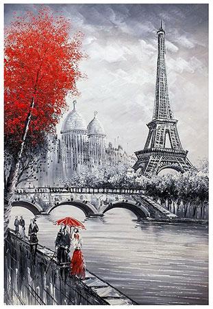 Malen nach Zahlen Bild Eiffelturm - WD2386 von Sonstiger Hersteller