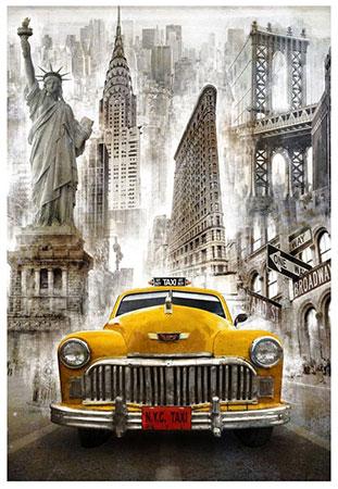Malen nach Zahlen Bild New Yorker Taxi - WD2385 von Sonstiger Hersteller