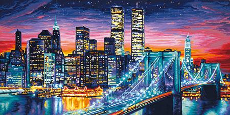 Malen nach Zahlen Bild Manhattan bei Nacht - 609220369 von Schipper