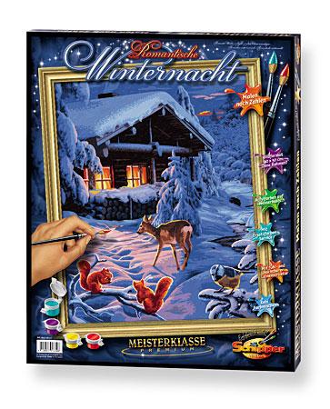 Malen nach Zahlen Bild Romantische Winternacht - 609130630 von Schipper
