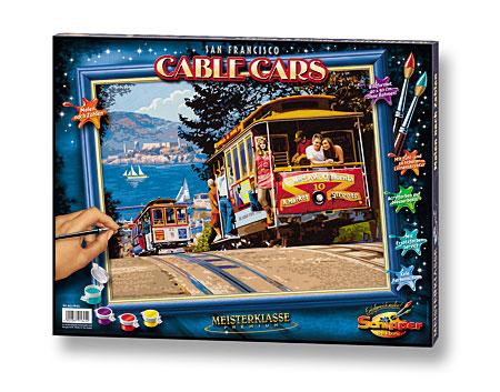 Malen nach Zahlen Bild San Francisco Cable Cars - 609130645 von Schipper