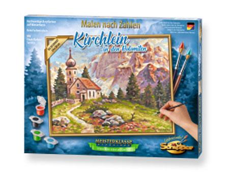 Malen nach Zahlen Bild Kirchlein in den Dolomiten - 609240794 von Schipper