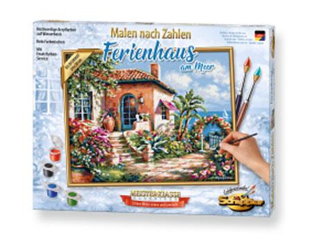 Malen nach Zahlen Bild Ferienhaus am Meer - 609240795 von Schipper