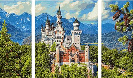 Malen nach Zahlen Bild Schloss Neuschwanstein - 609260837 von Schipper