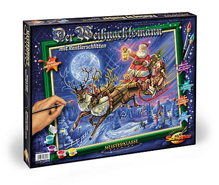 Der Weihnachtsmann mit Rentierschlitten
