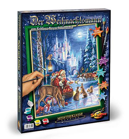 Malen nach Zahlen Bild Weihnachtsmann am Schloss Neuschwanstein - 609300695 von Schipper
