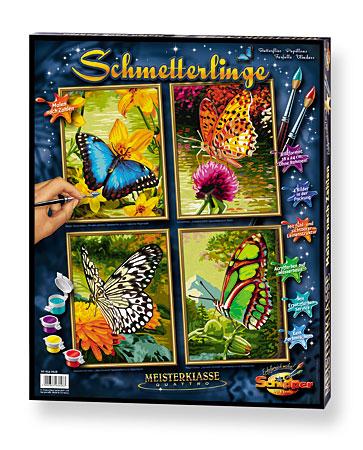 Malen nach Zahlen Bild Schmetterlinge - 609340628 von Schipper