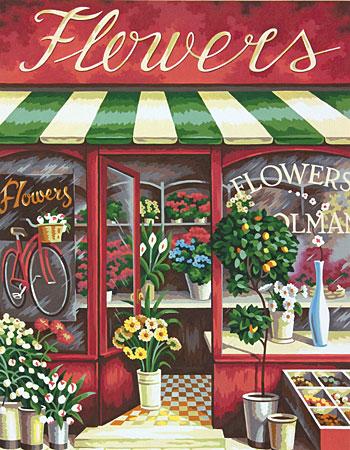 Malen nach Zahlen Bild Blumenladen - 91442 von Sonstiger Hersteller