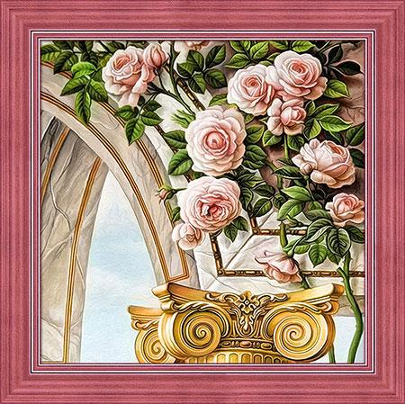 Torbogen und Rosen