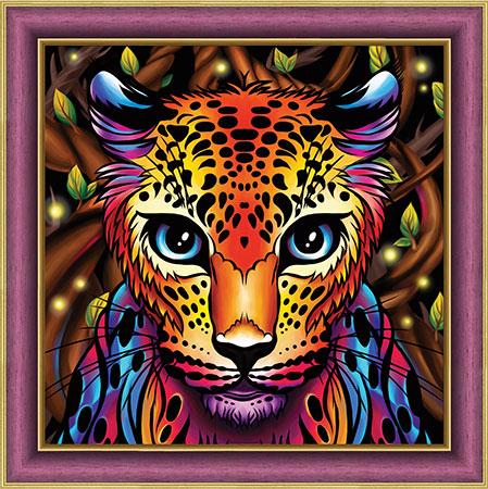 Malen nach Zahlen Bild Regenbogen-Leopard - AZ-1752 von Sonstiger Hersteller