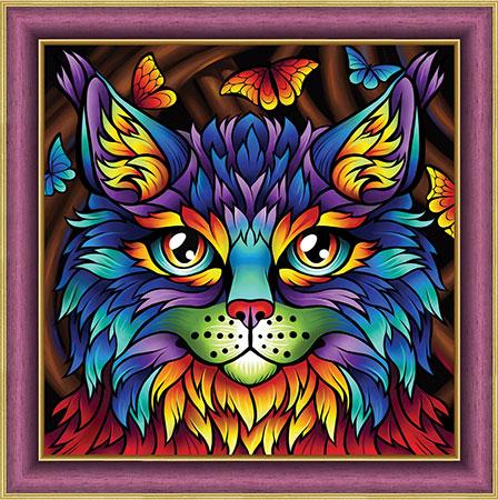 Malen nach Zahlen Bild Regenbogen-Katze - AZ-1753 von Sonstiger Hersteller