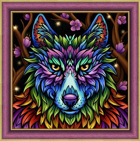 Malen nach Zahlen Bild Regenbogen-Wolf - AZ-1754 von Sonstiger Hersteller