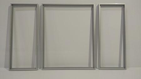 Silberne Aluminium-Rahmen Triptychon 80 x 50 cm