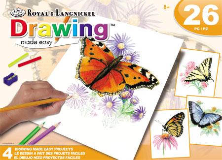 Malen nach Zahlen Bild Schmetterlinge - AVS-DME202 von Sonstiger Hersteller