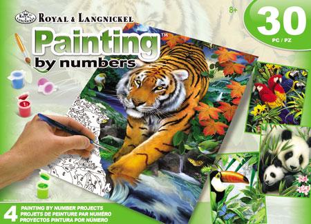 Malen nach Zahlen Bild Exotische Tiere des Dschungels - AVS-PBN209 von Sonstiger Hersteller