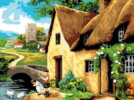 Malen nach Zahlen Bild Cottage - PAL14 von Sonstiger Hersteller