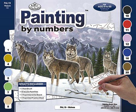 Malen nach Zahlen Bild Wölfe - PAL19 von Sonstiger Hersteller