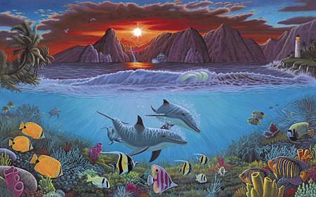 Malen nach Zahlen Bild Meeresleben - PAL20 von Sonstiger Hersteller