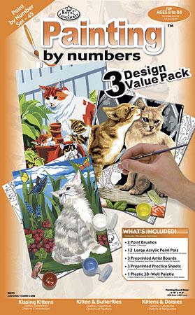 Malen nach Zahlen Bild Katzen - PBNSET45 von Sonstiger Hersteller