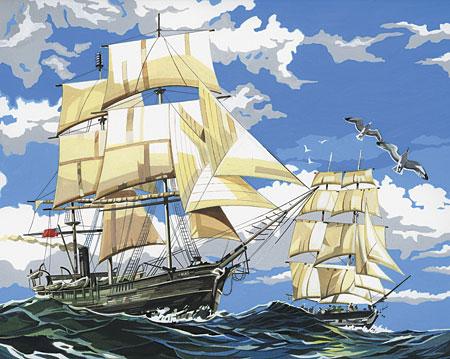 Malen nach Zahlen Bild Segelschiff - PCL1 von Sonstiger Hersteller