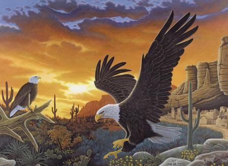 Adler in der Steppe