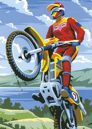 Malen nach Zahlen Bild Motocross - PJS11 von Sonstiger Hersteller