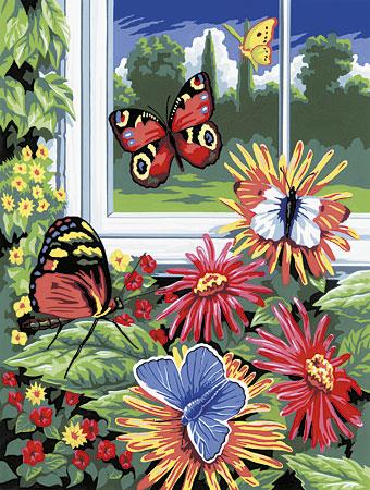 Malen nach Zahlen Bild Schmetterlinge - PJS17 von Sonstiger Hersteller