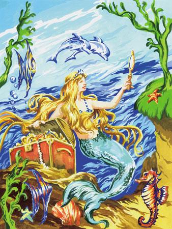 Malen nach Zahlen Bild Meerjungfrau - PJS19 von Sonstiger Hersteller