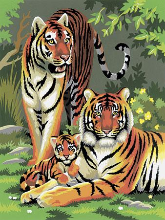 Malen nach Zahlen Bild Tigerfamilie - PJS27 von Sonstiger Hersteller