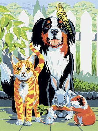 Malen nach Zahlen Bild Haustiere - PJS29 von Sonstiger Hersteller