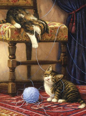 Malen nach Zahlen Bild Katzen spielen mit Wolle - PJS64 von Sonstiger Hersteller